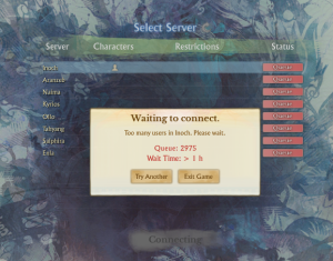 ArcheAge queue message